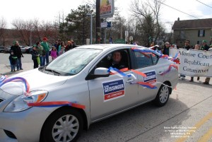 Geissinger for Congress car in the Stroudsburg St Patrick's Day Parade